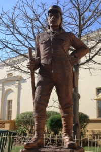 Statue of David Livingstone, in the town named after him