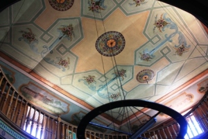 The painted ceiling of the Rimbaud house