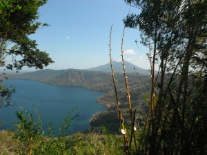 Apoyo Lake and Masaya volcano